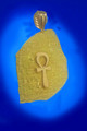 18K Gold Rosetta Stone with Ankh Pendant -XL