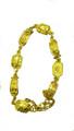 18k Gold Scarab & Cartouche Link Bracelet