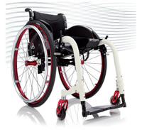 Progeo Ego. When design and technology meets a brilliant reality comes to life. EGO the new concept of active wheelchair by Progeo. Innovative open/close easy to use system and unbeatable rigidness for a extremely light folding wheelchair (less than 10kg in the lighest configuration), Ultra light aluminium alloy or carbon fibre elliptical frame tubes, extremely reduced encumbrance ... these are but a few of a TOP range model's features.