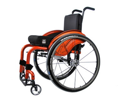 The Quickie Q7 ultralight custom wheelchair with 7000 Series Aluminum and ShapeLoc Technology.