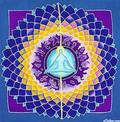 Meditation Mandala Batik Wall-Hanging
