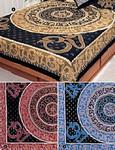 King-size OM Mandala India Bedspread