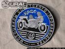 """Ural w/Sidecar - 4"""" Round, Blue"""