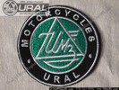 "Ural Motorcycle Patch - 3"" Round, Green"