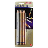 Derwent Metallic Pencils - 6 Coloured - CLEARANCE SALE!!! While stocks last