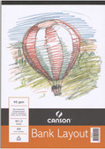 Canson Bank Layout Pads 45gsm - 50 sheets from $4.75!! CLEARANCE SALE! While stocks last