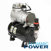 Airbrush Compressor with Tank single regulator