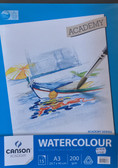 Canson Academy Watercolour Pad A3 200gsm - 15 sheets