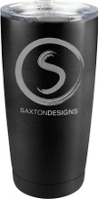 20 oz. Thermal Mug (Stainless Steel) with contemporary black powder coat finish.  Perfect for laser engraving your logo, badge and/or name.  Double wall, vacuum insulated and unbranded.