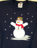 Winter Sweatshirt - Snowman Applique Design