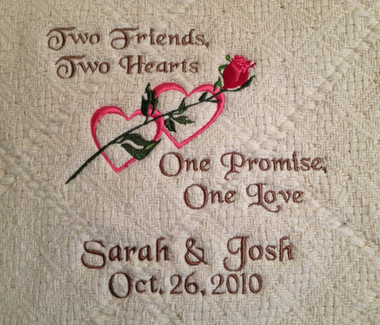 Wedding Blanket - Two Hearts - Two Friends Design