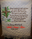 Memorial Blanket - In Loving Memory with Cross Design