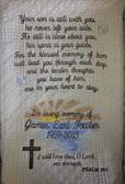 Memorial Blanket - In Loving Memory with Sunset Design