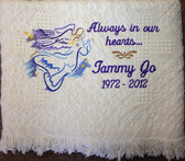 Memorial Blanket - Always in our Hearts Design