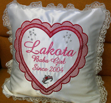 Baby/Child Pillow - Heart & Crown Design