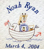 Baby Blanket - Noah's Ark Design Sample