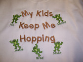 Grandma Sweatshirt - Kids Keep Me Hopping Design