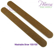 Princess Nail Files, 50 per pack - Washable Brow - Grit options