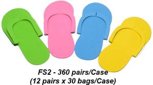 Notched Toe Foam Pedicure Slippers, case 360 pairs FS2 (Sew Type)