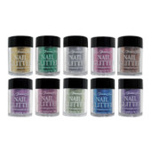 40% Off Nail Glitter Dust Kit - FantaSea - 10pcs