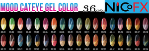 Cateye - MOOD CHANGING - 36 COLORS FREE 3 Magets + SAMPLE TIP