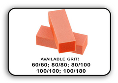 3 Way Buffer block Orange-White Grit 100/100 Pack of 20pcs