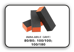 3 Way Buffer block Orange-Black Grit 100/100 Pack of 20pcs
