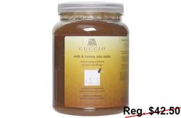 Cuccio Milk & Honey Sea Salts 78 oz