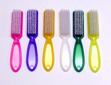 Manicure Brush with Handle, Assorted Colors (No Color Choice)