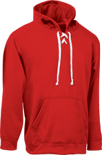 Red Kobe Sportswear Dangler NXT Hockey Lace-up Hoodie | Blanksportswear.ca