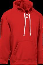 Red Kobe Sportswear Dangler NXT Hockey Lace-up Hoodie | Blanksportswear.ca