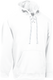 White Kobe Sportswear Dangler NXT Hockey Lace-up Hoodie | Blanksportswear.ca