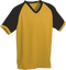 Gold/Black Kobe Sportswear Punchout V-Neck Baseball House-League Youth Jersey | Blanksportswear.ca