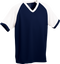Navy/White Kobe Sportswear Punchout V-Neck Baseball House-League Youth Jersey | Blanksportswear.ca