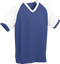 Royal/White Kobe Sportswear Punchout V-Neck Baseball House-League Youth Jersey | Blanksportswear.ca