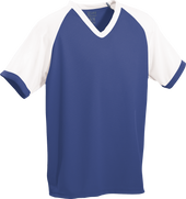 Royal/White Kobe Sportswear Punchout V-Neck Baseball House-League Adult Jersey | Blanksportswear.ca