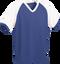 Royal/White Kobe Sportswear Punchout V-Neck Baseball House-League Adult Jersey | Blanksportswear.ca