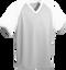 Grey/White Kobe Sportswear Punchout V-Neck Baseball House-League Adult Jersey | Blanksportswear.ca