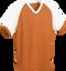 Orange/White Kobe Sportswear Punchout V-Neck Baseball House-League Adult Jersey | Blanksportswear.ca