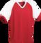 Red/White Kobe Sportswear Punchout V-Neck Baseball House-League Adult Jersey | Blanksportswear.ca