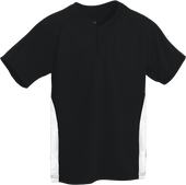 Black/White Kobe Sportswear Closer Two-Tone Short Sleeve Baseball Youth Jersey | Blanksportswear.ca