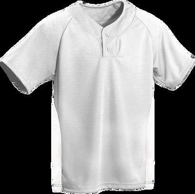 Grey/White Kobe Sportswear Closer Two-Tone Short Sleeve Baseball Adult Jersey | Blanksportswear.ca