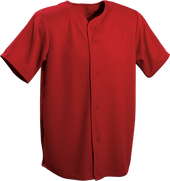 Red Kobe Sportswear Triple Crown Full Button Youth Baseball Jersey | Blanksportswear.ca