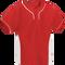 Red/White Kobe Sportswear Slider Two-Tone Performance Youth Baseball Jersey | Blanksportswear.ca