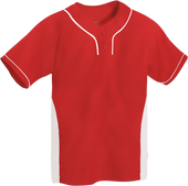 Red/White Kobe Sportswear Slider Two-Tone Performance Youth Baseball Jersey | Blanksportswear.ca