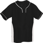 Black/White Kobe Sportswear Slider Two-Tone Performance Adult Baseball Jersey | Blanksportswear.ca