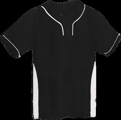 Black/White Kobe Sportswear Slider Two-Tone Performance Adult Baseball Jersey   Blanksportswear.ca