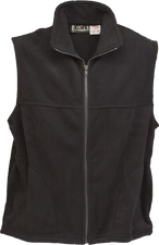 Black Kobe Sportswear Full Zip Highland Adult Fleece Vest | Blanksportswear.ca