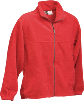 Red Kobe Sportswear Pinnacle Full Zip Highland Adult Fleece Jacket | Blanksportswear.ca