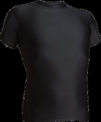Black Kobe Sportswear 8910A Short Sleeve Compression Shirt | Blanksportswear.ca